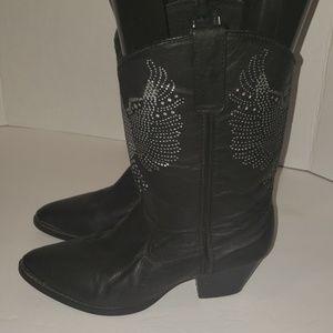 DINGO Silver Eagle Cowboy Boots size 8.5